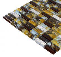 Mozaik ploščice rjave
