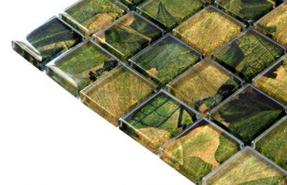 Mozaik ploščice zeleno rjave